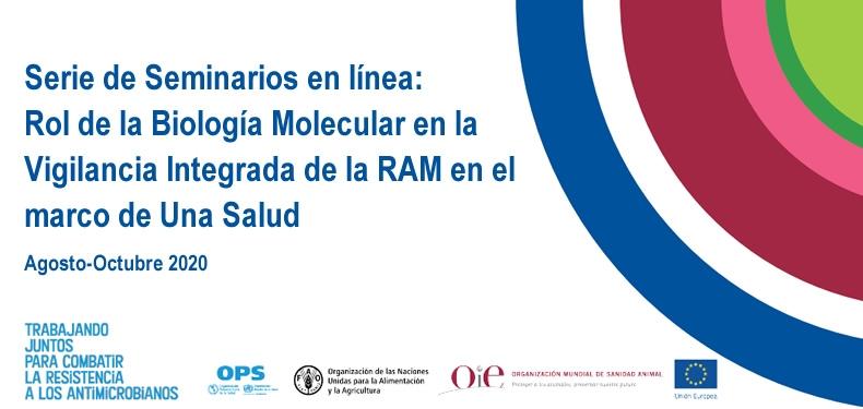 SERIE DE SEMINARIOS EN LÍNEA: Rol de la Biología Molecular en la Vigilancia Integrada de la RAM en el marco de Una Salud