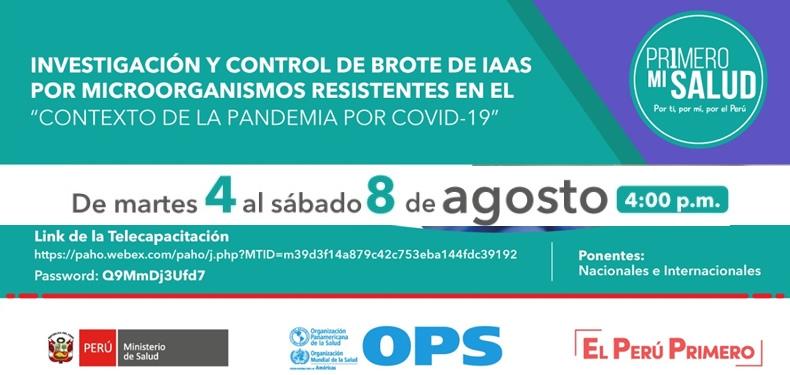 Curso: Investigación y Control de Brotes de IAAS por microorganismos resistentes en el Contexto de la Pandemia de COVID-19